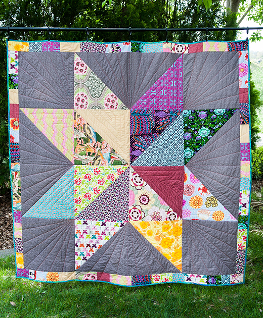 Giant Star Quilt by Mel Draper, The Tutorial Designed by Amy Smart of Diary of a Quilter