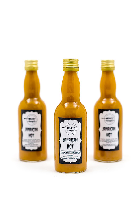 Sweet chili sauce Jamaican HOT with labels