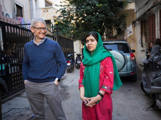 Apple's Tim Cook and Malala Yousafzai team up to educate 100,000 girls
