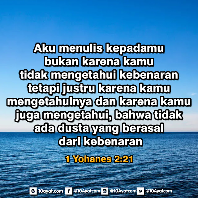 1 Yohanes 2:21