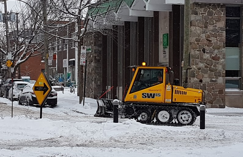 24th-scale: Bombardier sidewalk plow: planning stages
