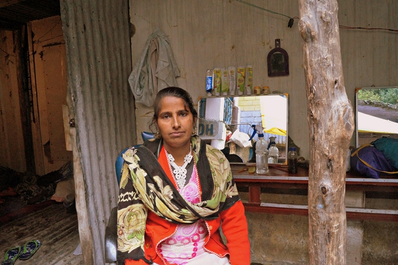 Inspirational woman at a village Ghangaria enroute Hemkund Sahib