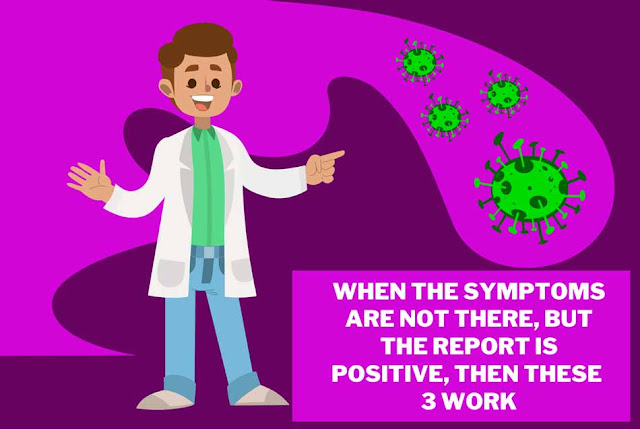 When the symptoms are not there, but the report is positive, then these 3 work