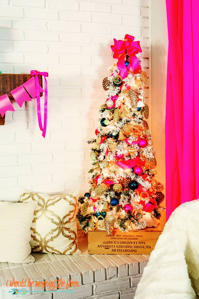 Pink and White Christmas Tree