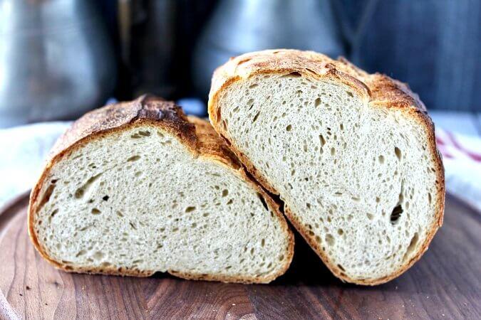 Slow Fermented Rustic Bread Crumb