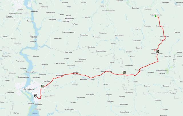 короткий путь на вокзал в Запорожье