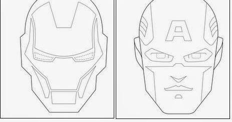 Máscaras De Los Vengadores Para Colorear Ideas Y Material