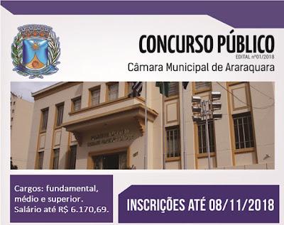 Concurso da Câmara de Araraquara-SP (Apostilas)