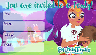 free printable Enchantimals invitations