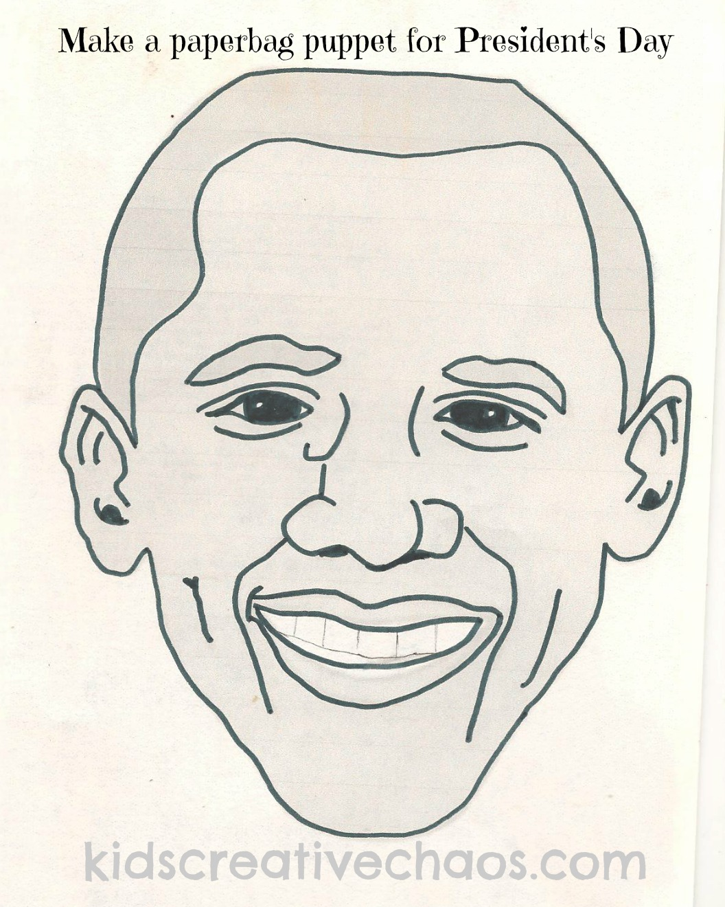 Barack Obama Paper Bag Puppet: Hey When is President\'s Day Anyway ...