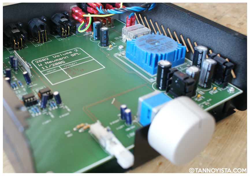 Inside the SPL Volume 2 showing the circuit board