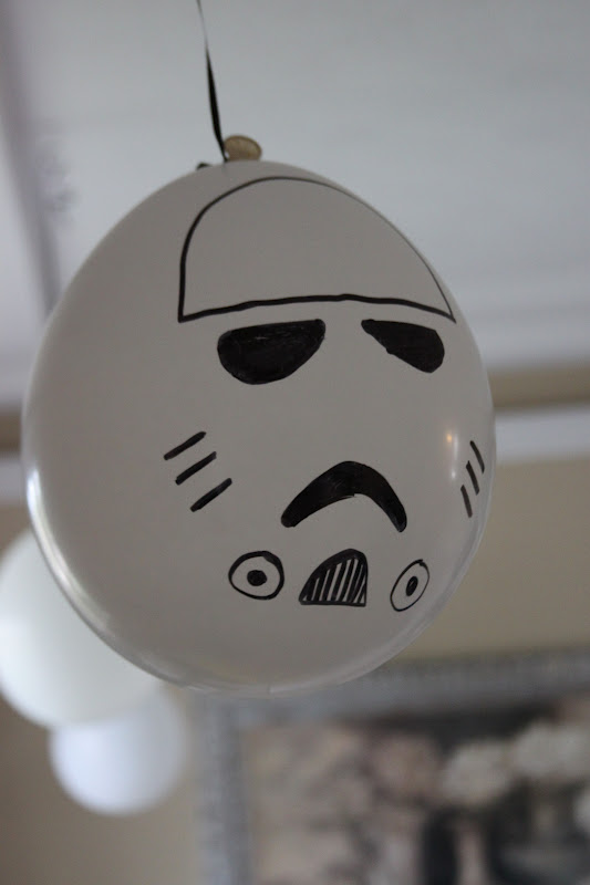 A Storm Trooper Squadron Had Taken Over The Living Room They Were White Balloons I Used Black Sharpie To Draw Minimalism Face On