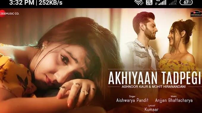 Akhiyaan Tadpegi Lyrics – Aishwarya Pandit