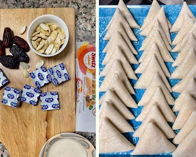 Sweet Mini Samosas | Cream Cheese Dates and Almonds