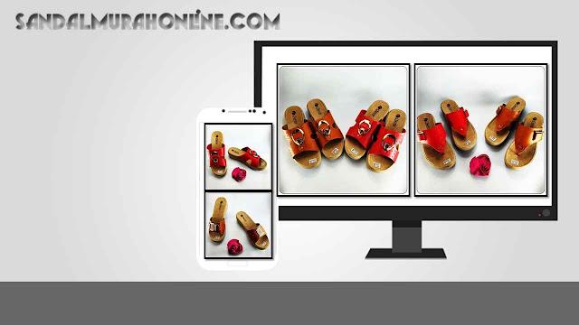 Grosir Sandal Imitasi Kulit Garut - Wedges CS CPC Wanita