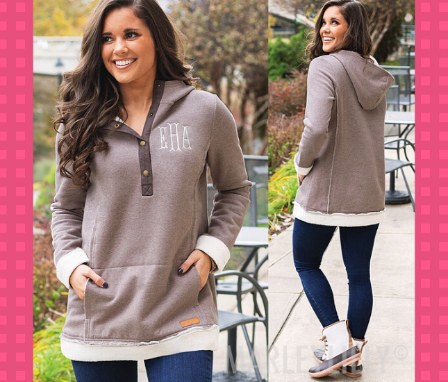 monogrammed outfit for fall