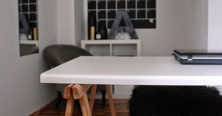 Mein Arbeits(reich) & DIY Schreibtisch für unter 25 Euro ...