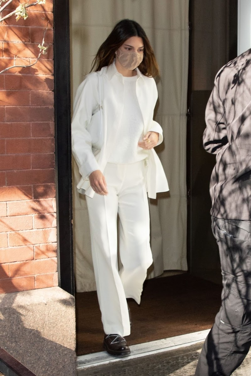 Kendall Jenner  in White Dress Out in New York 20 Nov-2020