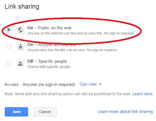public on the web google drive