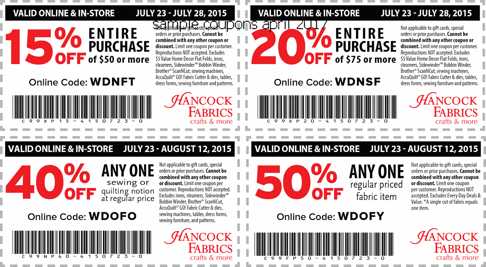 Coupons for hancock fabrics online - The best restaurant in