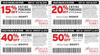 Hancock Fabrics coupons april 2017