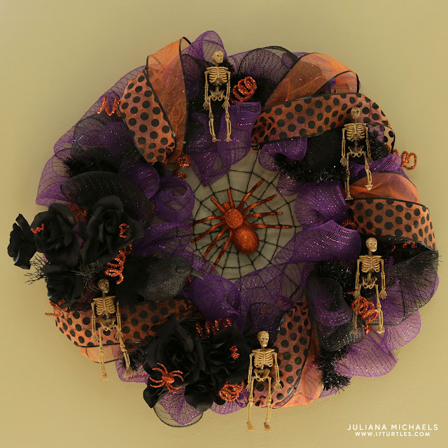 Dollar Tree Deco Mesh Halloween Wreath by Juliana Michaels