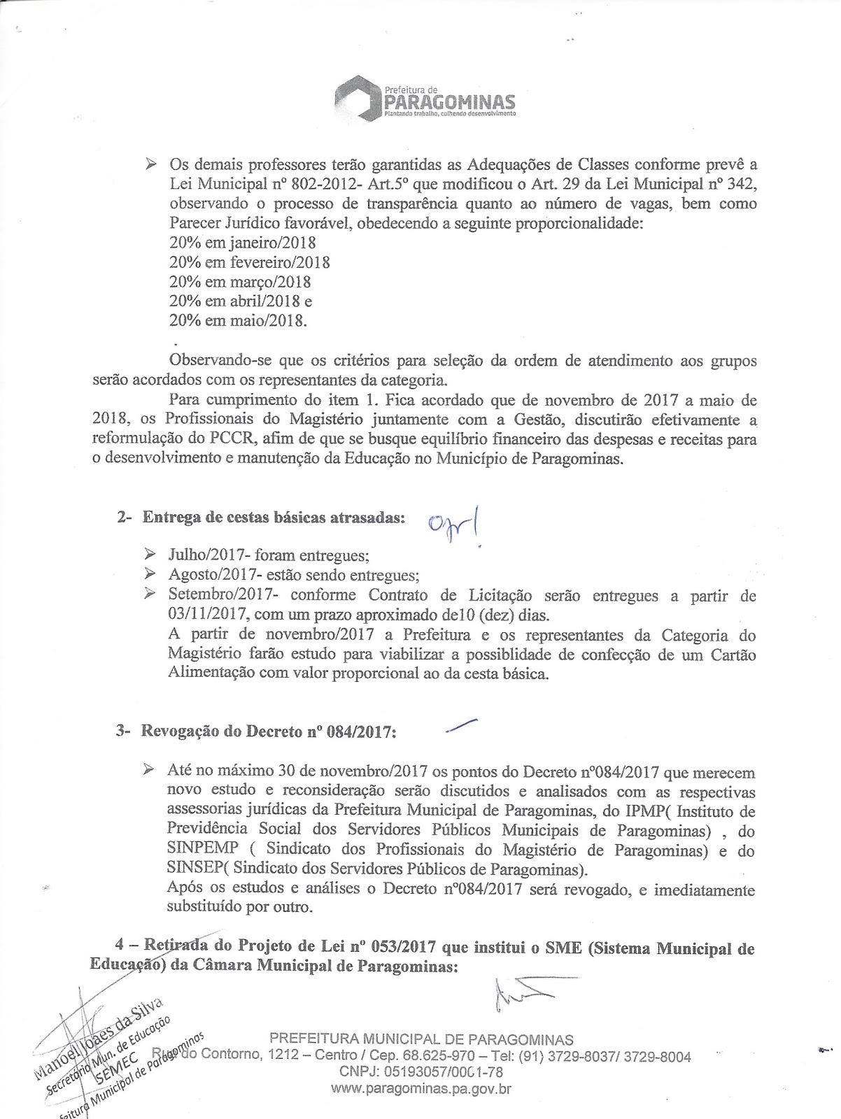 scan0001 - Professores de Paragominas deflagram GREVE