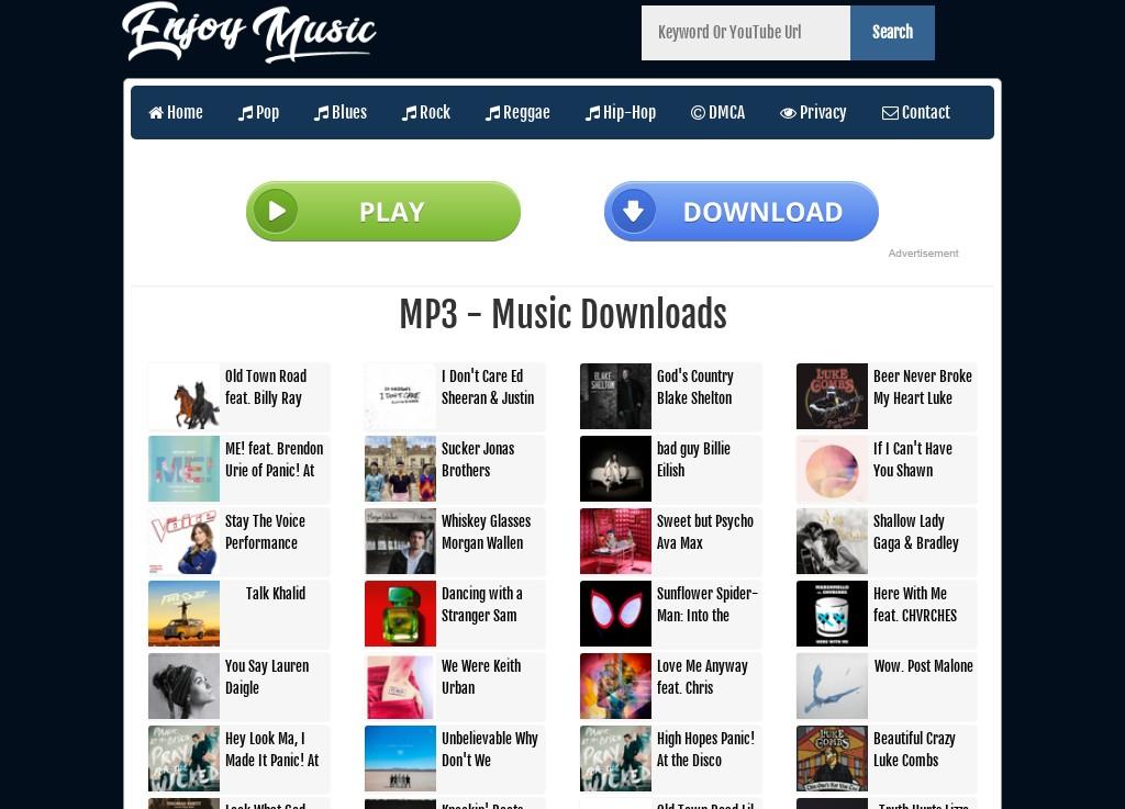 Enjoy Music Simple MP3 Script and Youtube Grabber (No API