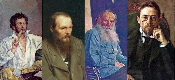 Pushkin, Dostoievski, Tolstói y Chéjov | Obras digitalizadas