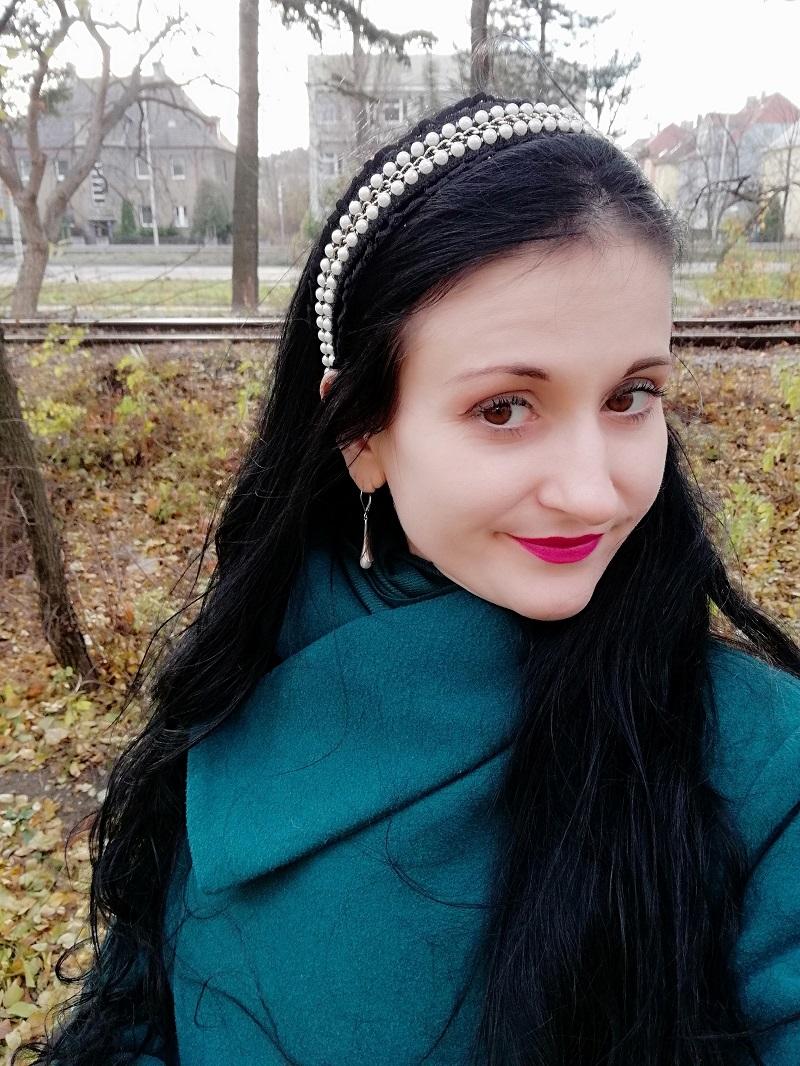 Vezzi opaska do włosów z perełkami