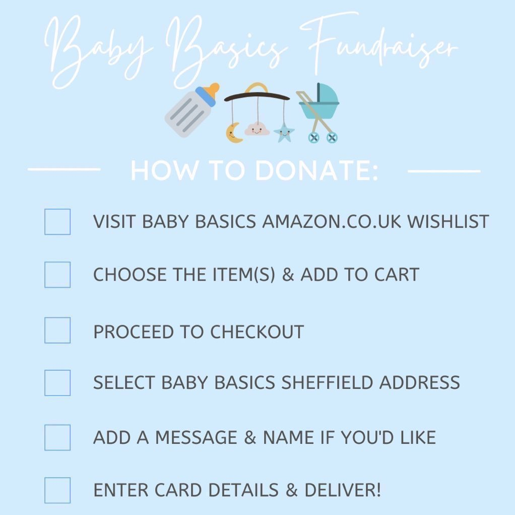 How to to Doante to Baby Basics Amazon Wish list created by Kate's Rangers