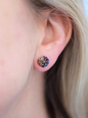 Abstract flowers, Flower stud earrings