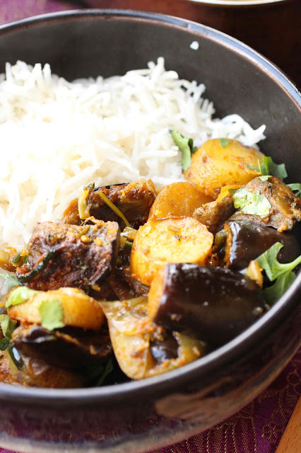 curry d'aubergines au four