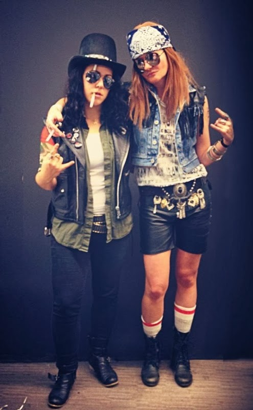 Since Robin u0026 Miley were clearly NSFW my coworker u0026 I decided to go as Guns N Roses. It was easy fun and so very last minute.  sc 1 st  Kitty Rougeu0027s & Kitty Rougeu0027s blog: HALLOWEEN 2013