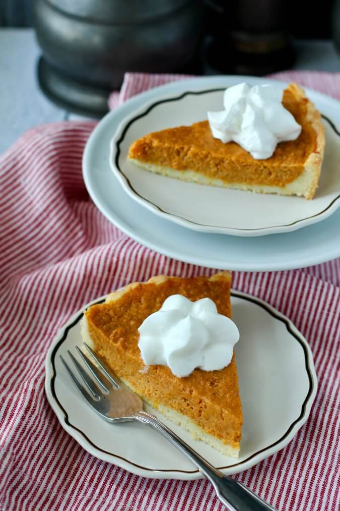 Sweet Potato Tart slices