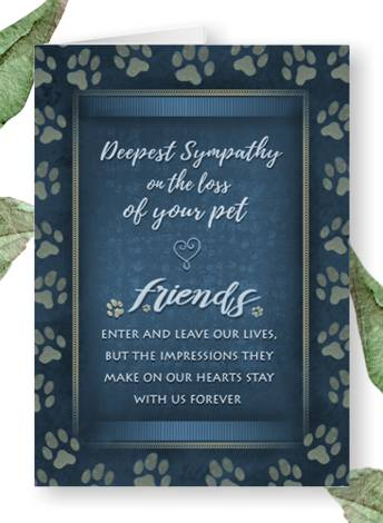 friends stay with us forever pet loss sympathy card