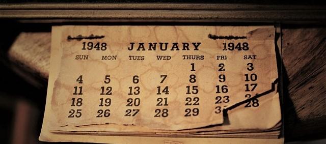 Old 1948 Calendar