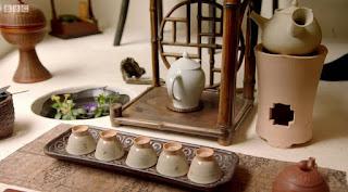 Set up for a tea ceremony