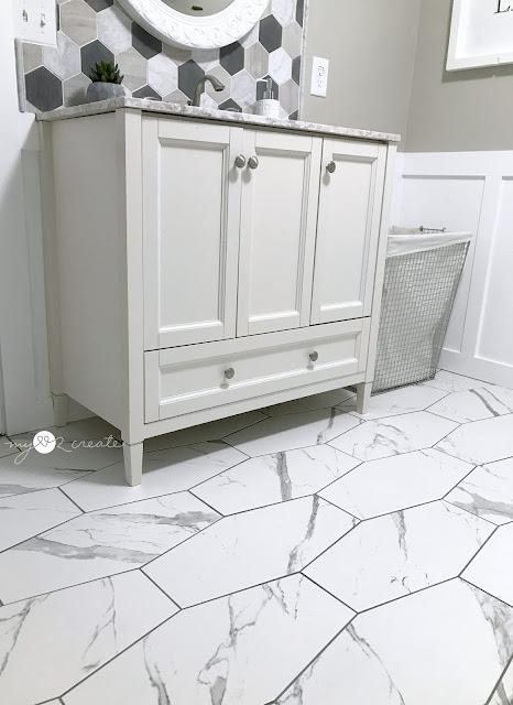 new hexagon tiled floor