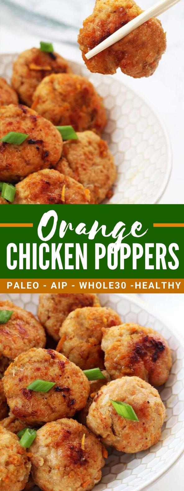 ORANGE CHICKEN POPPERS (PALEO, AIP, WHOLE 30) #healthy #diet