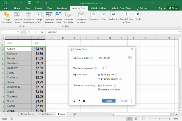 Screenshot Ablebits Ultimate Suite for Excel 2018.5.2248.9896 Full Version