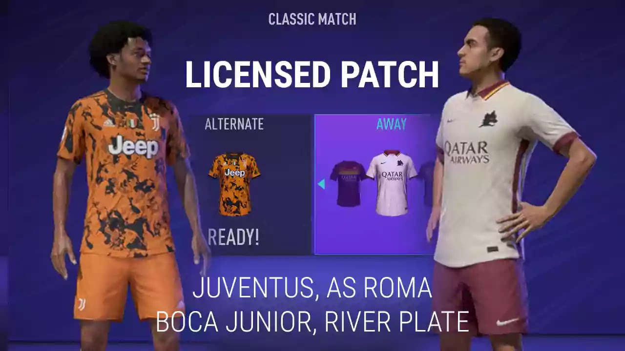 FIFA 21 Licensed Patch Juventus AS Roma Logo Kits Jersey