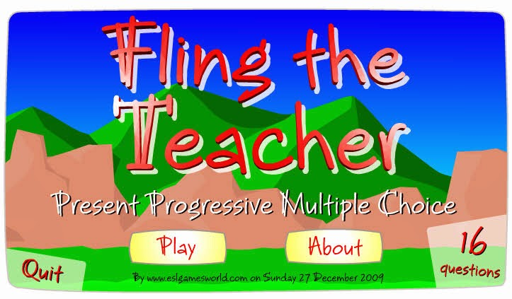 http://eslgamesworld.com/members/games/grammar/fling%20the%20teacher/actionverbs/present%20progressive%20multiple%20choice.html