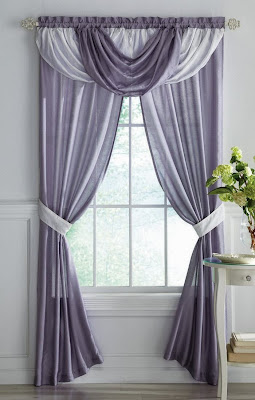 Rare Grey White Mix Curtain Design