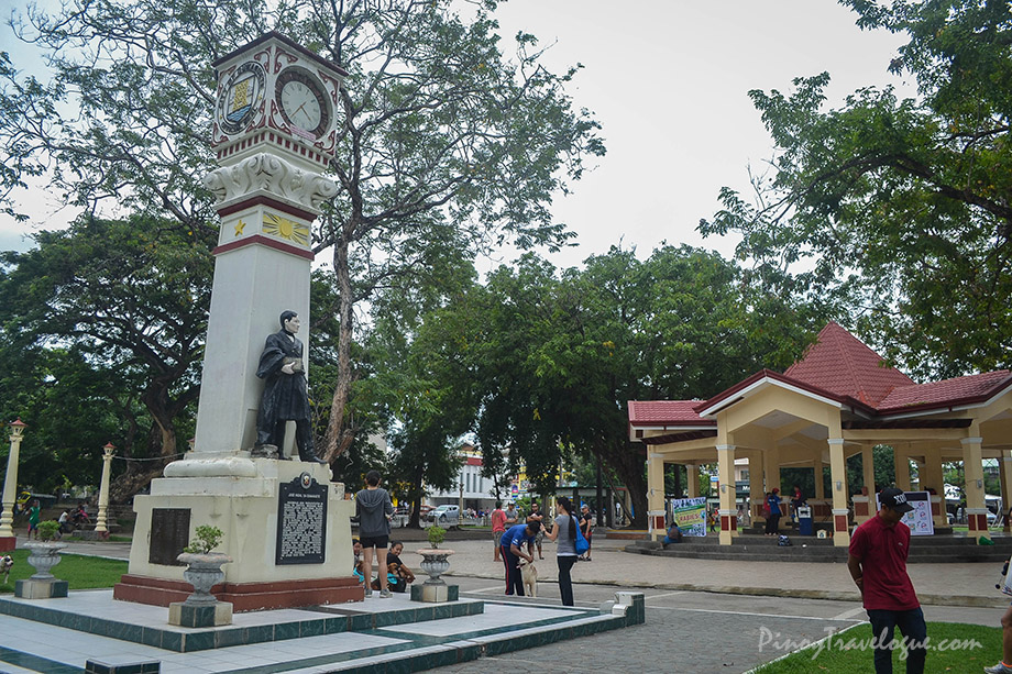 Jose Rizal's statue stands at Quezon Park