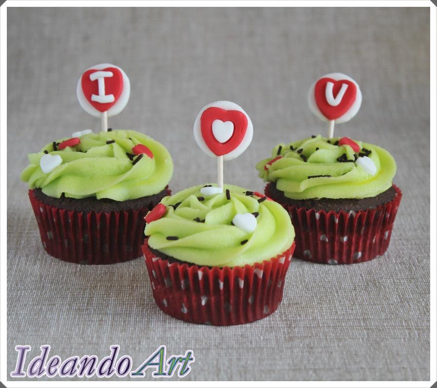 Receta de cupcakes románticos