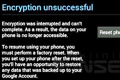 "Cara Memperbaiki Enkripsi Gagal Kesalahan ""Encryption Unsuccessful"" di Android"