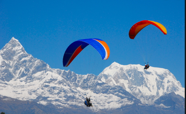 Best Time to Visit Nepal-- Paragliding in Pokhara
