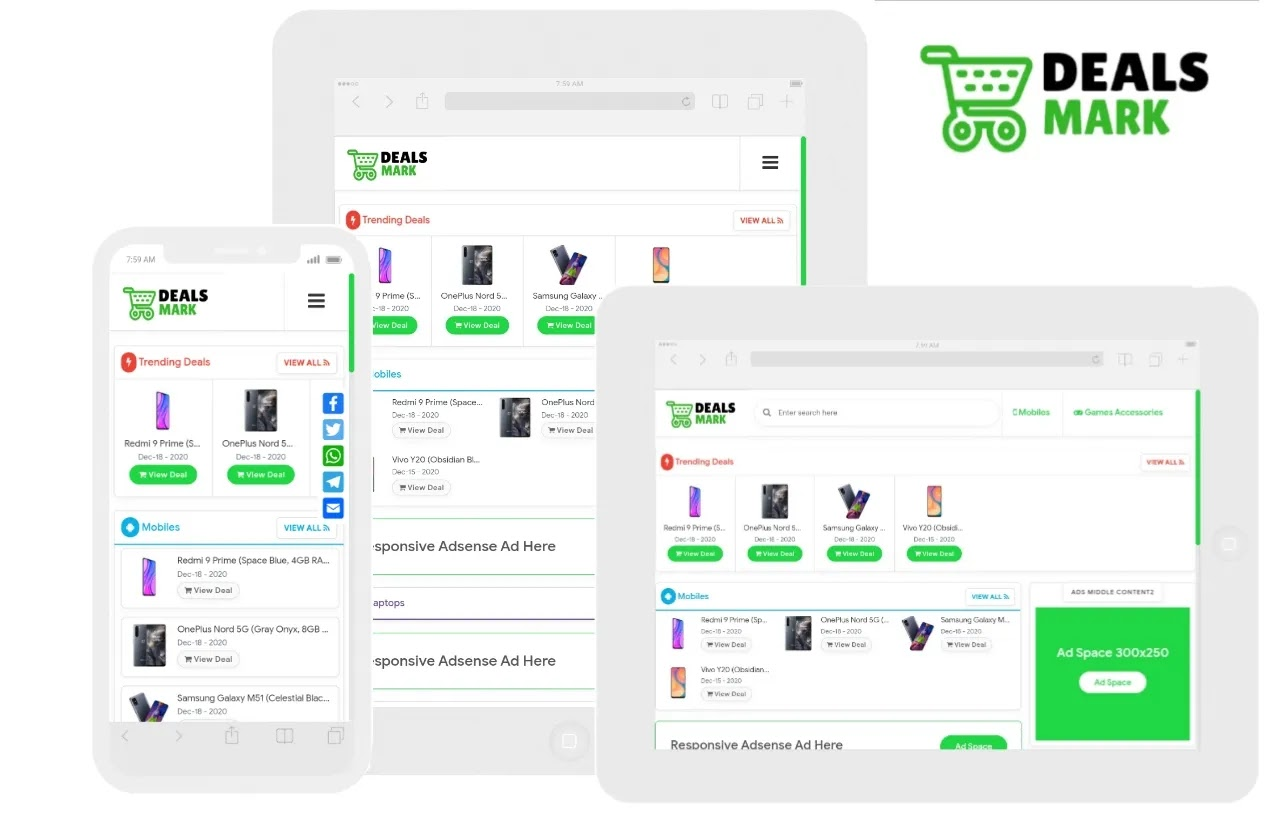Deals Mark Premium Blogger Template