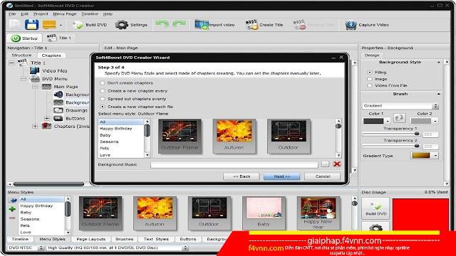 Soft4Boost DVD Creator Full - Phần mềm ghi đĩa in đĩa DVD miễn phí 2018